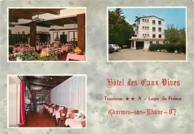 """/ CPSM FRANCE 07 """"Charmes sur Rhone, hôtel des Eaux Vives"""""""