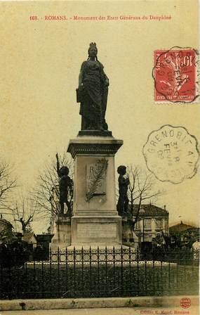 """CPA FRANCE 26 """"Romans, monument aux morts"""""""
