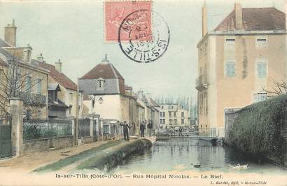 "CPA FRANCE 21 ""Is sur Tille, Rue Hôpital Nicolas"""