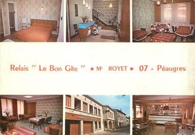 """CPSM FRANCE 07 """"Peaugres, relais le bon Gite"""""""