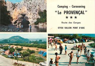 Cpsm france 07 vallon pont d 39 arc camping 07 ardeche autres communes 07 ref 59488 - Camping vallon pont d arc piscine ...