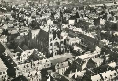 """CPSM FRANCE 08 """"Charleville, l'église, vue aérienne"""""""