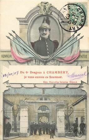 """CPA FRANCE 73 """"Chambéry, souvenir du 4ème dragons"""""""
