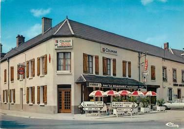 """CPSM FRANCE 10 """"Marigny le Chatel, la renaissance, restaurant"""""""