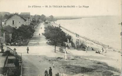 """CPA FRANCE 17 """"Saint Trojan les Bains, la plage"""""""