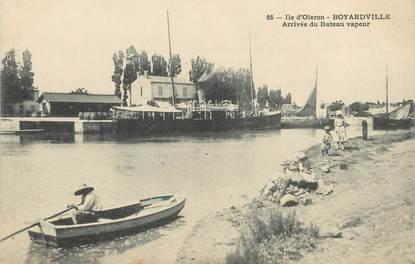 """CPA FRANCE 17 """"Ile d'Oléron, boyardville, arrivée du bateau vapeur"""""""