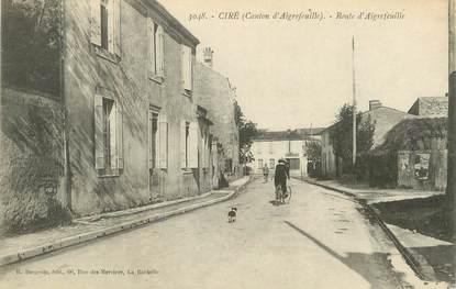 "CPA FRANCE 17 ""Ciré, route d'Aigrefeuille"""