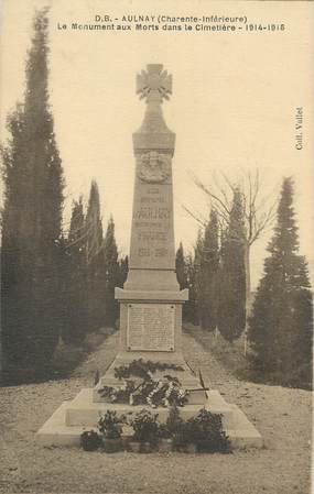 """CPA FRANCE 17 """"Aulnay"""" / MONUMENT AUX MORTS"""