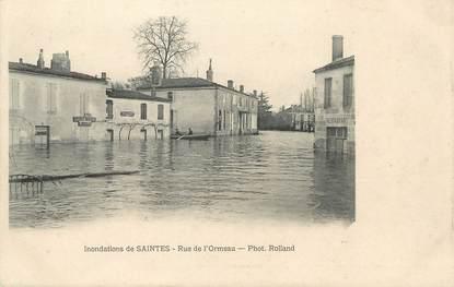 "CPA FRANCE 17 ""Inondations de Saintes, rue de l'Ormeau"""