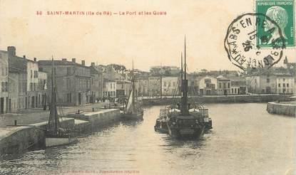 """CPA FRANCE 17 """"Saint Martin, Ile de ré, le port et les Quais"""" / BATEAU"""