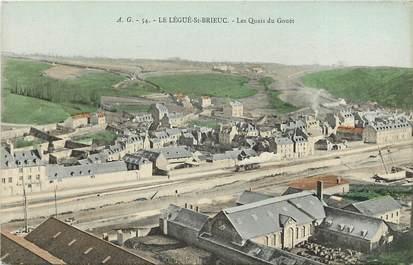"""CPA FRANCE 22 """"Le Légué Saint Brieuc, les quais du Gouët"""""""