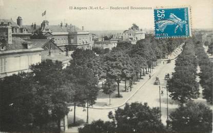 """/ CPA FRANCE 49 """"Angers, bld Bessoneau"""""""
