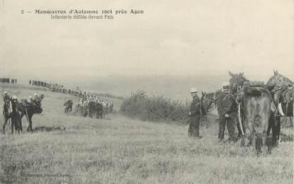 """/ CPA FRANCE 47 """"Agen, manoeuvre d'Automne 1904 près Agen"""""""