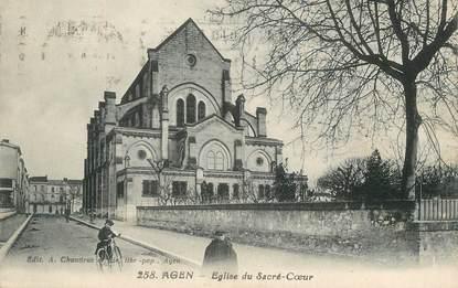 """/ CPA FRANCE 47 """"Agen, église du Sacré Coeur"""""""