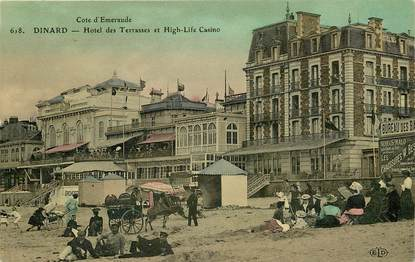 "CPA FRANCE 35 ""Dinard, Hotel des Terrasses"""