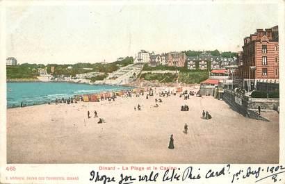 """CPA FRANCE 35 """"Dinard, la plage et le casino"""""""