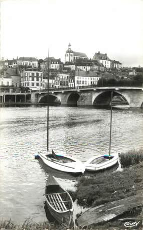 """/ CPSM FRANCE 89 """"Joigny, le pont sur l'Yonne"""""""