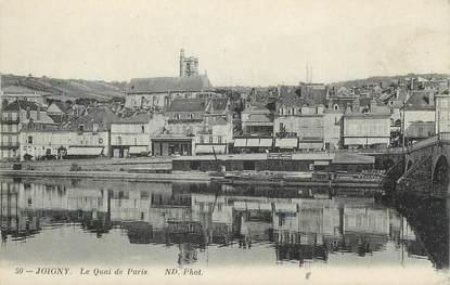 """/ CPA FRANCE 89 """"Joigny, le quai de  Paris"""""""