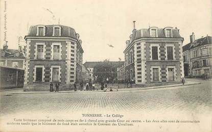 "/ CPA FRANCE 89 ""Tonnerre, le collège"""