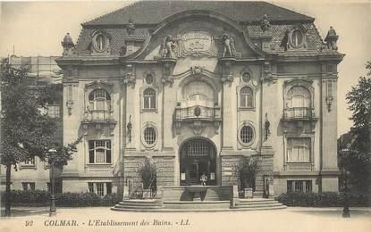 """/ CPA FRANCE 68 """"Colmar, l'établissement des bains"""""""