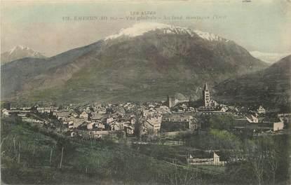 """CPA FRANCE 05 """"Embrun, vue générale, au fond montagne d'Orel"""""""