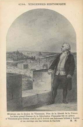 """/ CPA FRANCE 94 """"Mirabeau sur le donjon de Vincennes"""""""