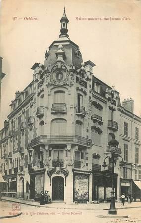 Cpa france 45 orl ans maison moderne rue jeanne d 39 arc for Maison contemporaine loiret