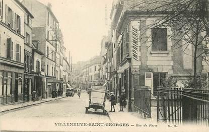 """/ CPA FRANCE 94 """"Villeneuve Saint Georges, rue de Paris"""""""