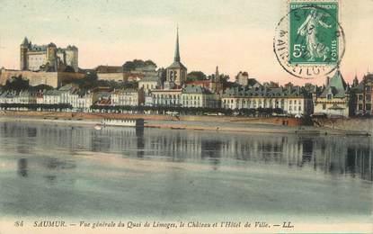"""/ CPA FRANCE 49 """"Saumur, vue générale du quai de Limoges"""""""