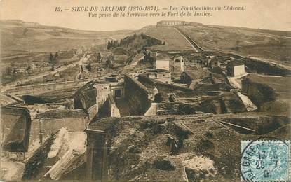 """/ CPA FRANCE 90 """"Siège de Belfort, les fortifications du château"""""""