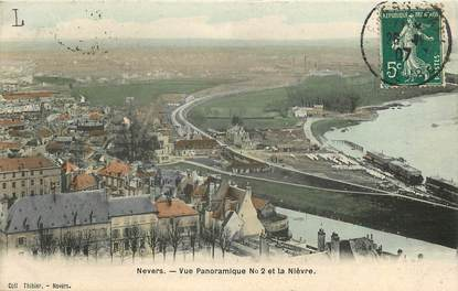 "CPA FRANCE 58 ""Nevers, vue panoramique et la Nièvre"""
