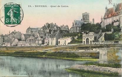 """CPA FRANCE 58 """"Nevers, Quai de la Loire"""""""
