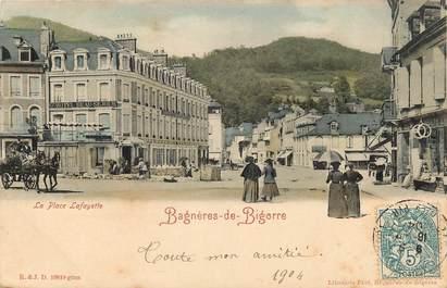"""CPA FRANCE 65 """"Bagnères de Bigorre, la place Lafayette"""""""