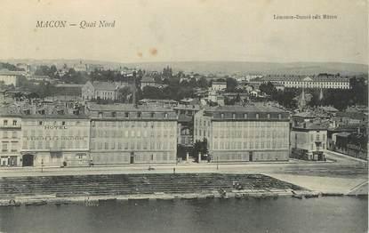 """/ CPA FRANCE 71 """"Macon, quai Nord"""""""