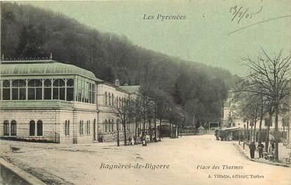 """CPA FRANCE 65 """"Bagnères de Bigorre, Place des Thermes"""""""