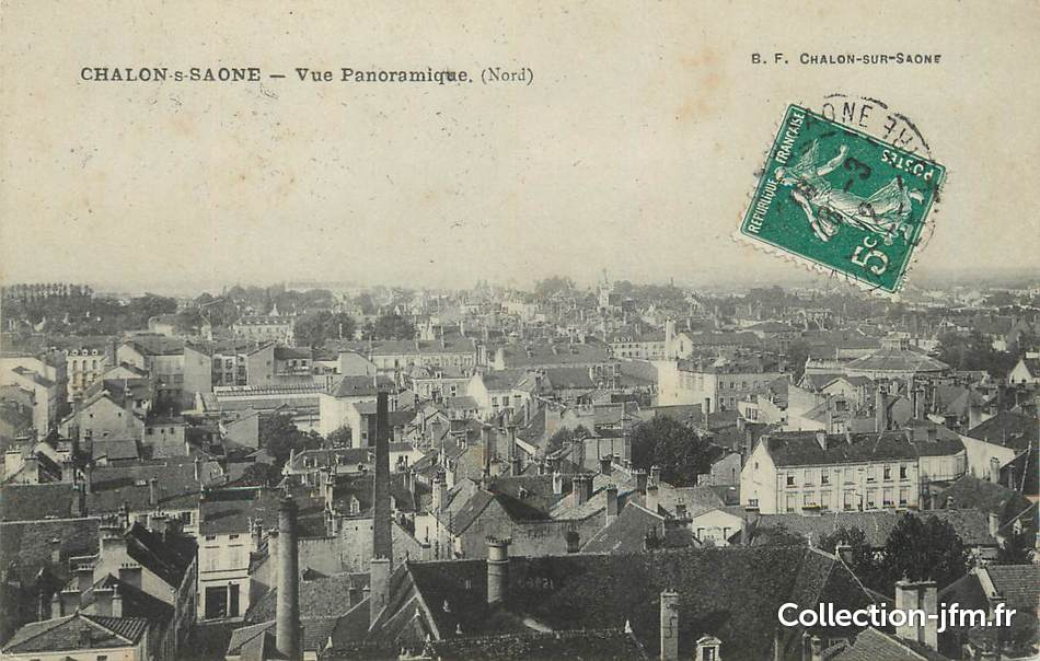 Cpa france 71 chalon sur sa ne vue panoramique 71 for Plan de chalon sur saone 71