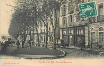 """/ CPA FRANCE 71 """"Chalon sur Saône, quai des messageries """""""