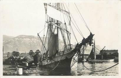 """/ CPSM FRANCE 83 """"Toulon, voilier dans le port marchand"""""""