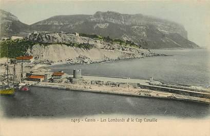 """CPA FRANCE 13 """"Cassis, le Lombard et le cap Canaille"""""""