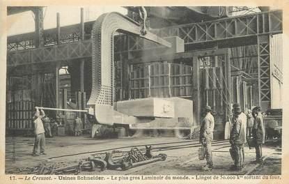 """/ CPA FRANCE 71 """"Le Creusot, usines Schneider, le plus gros laminoir du monde"""""""