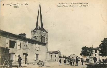 """CPA FRANCE 43 """"Boisset, la Place de l'Eglise"""""""