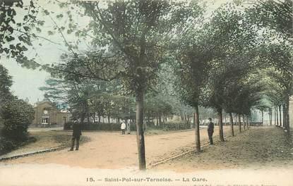 """CPA FRANCE 62 """"Saint Pol sur Ternoise, la gare"""""""