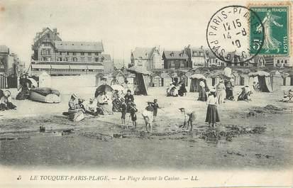 """/ CPA FRANCE 62 """"Le Touquet Paris Plage, la plage devant le casino"""""""