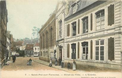 """CPA FRANCE 62 """"Saint Pol sur Ternoise, l'entrée de l'Hotel de ville"""""""