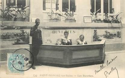 """/ CPA FRANCE 58 """"Saint Honoré Les bains, les buvettes"""""""