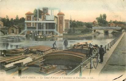 "CPA FRANCE 62 ""Saint Omer, le canal d'Arques"" / BATELLERIE"