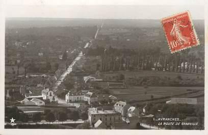 """/ CPSM FRANCE 50 """"Avranches, la route de Granville"""""""