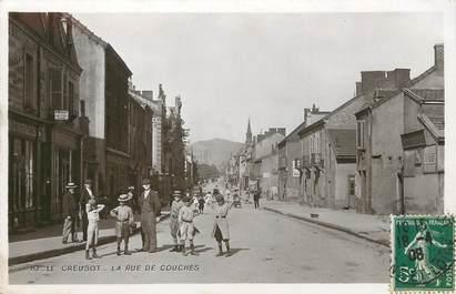 """/ CPSM FRANCE 71 """"Le Creusot, la rue des couches"""""""