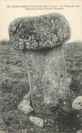 """/ CPA FRANCE 87 """"Saint Priest Taurion, la pierre des Mas"""""""