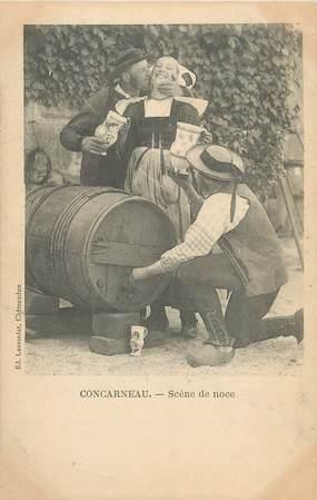"""/ CPA FRANCE 29 """"Concarneau, scène de noce"""" / FOLKLORE"""